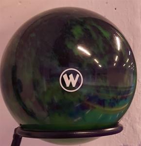 Tekegolyó WINNER 160mm fekete/zöld képe